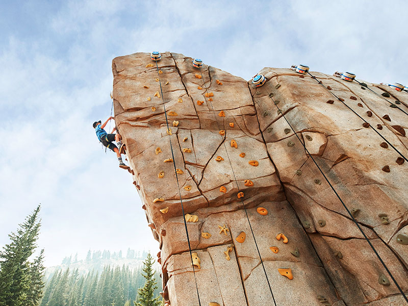 Climbing Wall at Epic Discovery