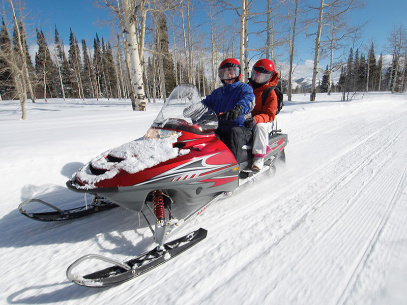 Snowmobiling near Breckenridge