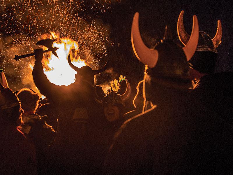 people at the Ullr Bonfire