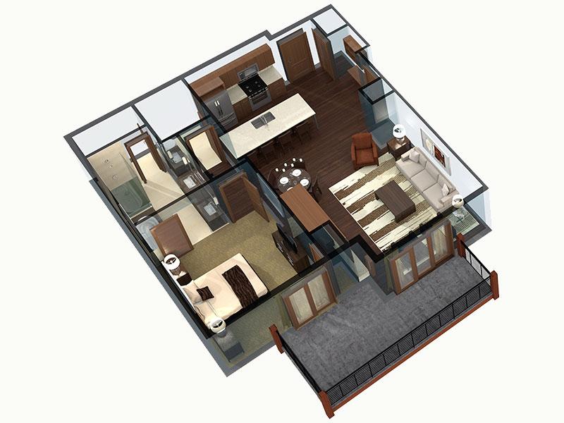 One-Bedroom Breckenridge Residence