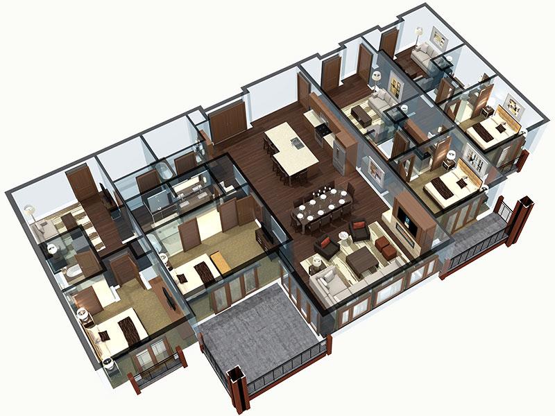 4 bedroom Colorado residence floor plan