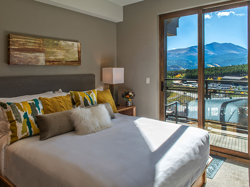 Summer view from a master bedroom in a suite