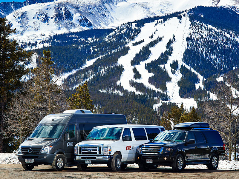 Group of rental shuttle vehicles