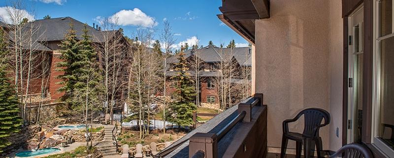 Balcony views at Grand Timber Lodge
