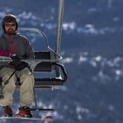 family riding ski lift at Breckenridge