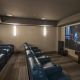 Movie Theatre at Grand Colorado with Blue leather seating