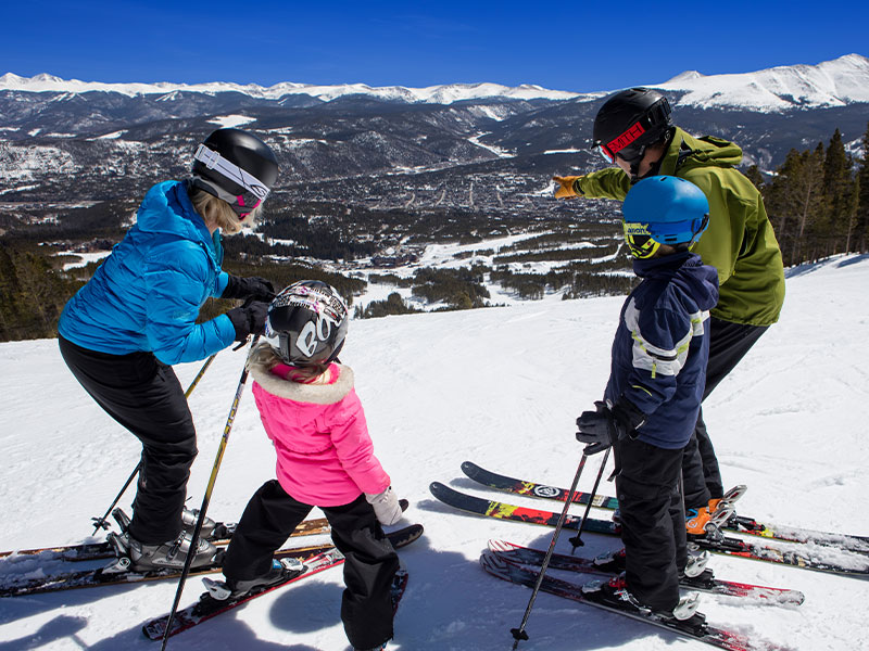 Family skiing in Breckenridge