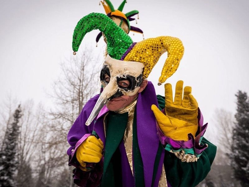 Mardi Gras celebration in Breckenridge