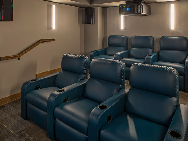 Movie theater at the Grand Colorado on Peak 8